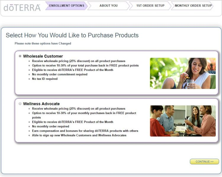 doTERRA Sign Up - Step 4